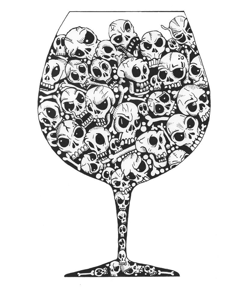 Skull Juice Doodle Coloring pages