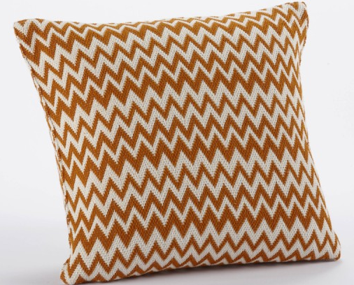 This yarn-dyed chunky Zigzag Pillow ($86) is made of 100% organic cotton.