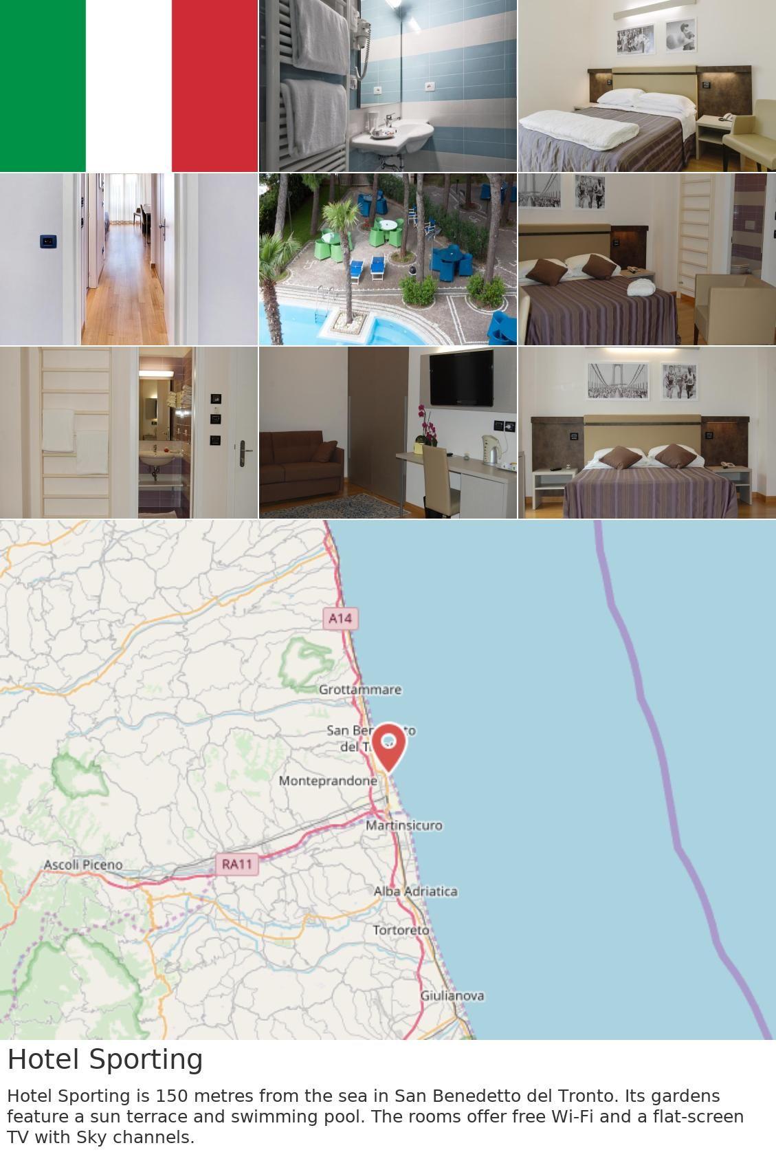 Europe Italy San Benedetto Del Tronto Hotel Sporting Hotel Sporting Is 150 Metres From The Sea In San Benedetto Del Tronto Its Gardens Feature A Sun Terrac