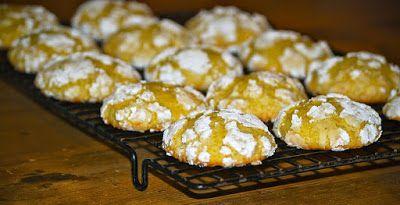 أناقة مغربية غريبة معلكة بالليمون Crinkle Cookies Meyer Lemon Cookies