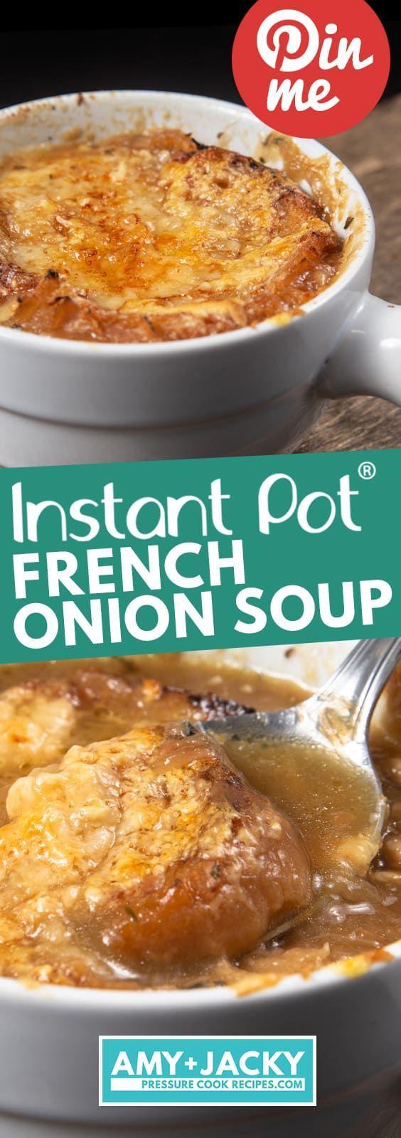 Instant Pot Französische Zwiebelsuppe #instantpotrecipes