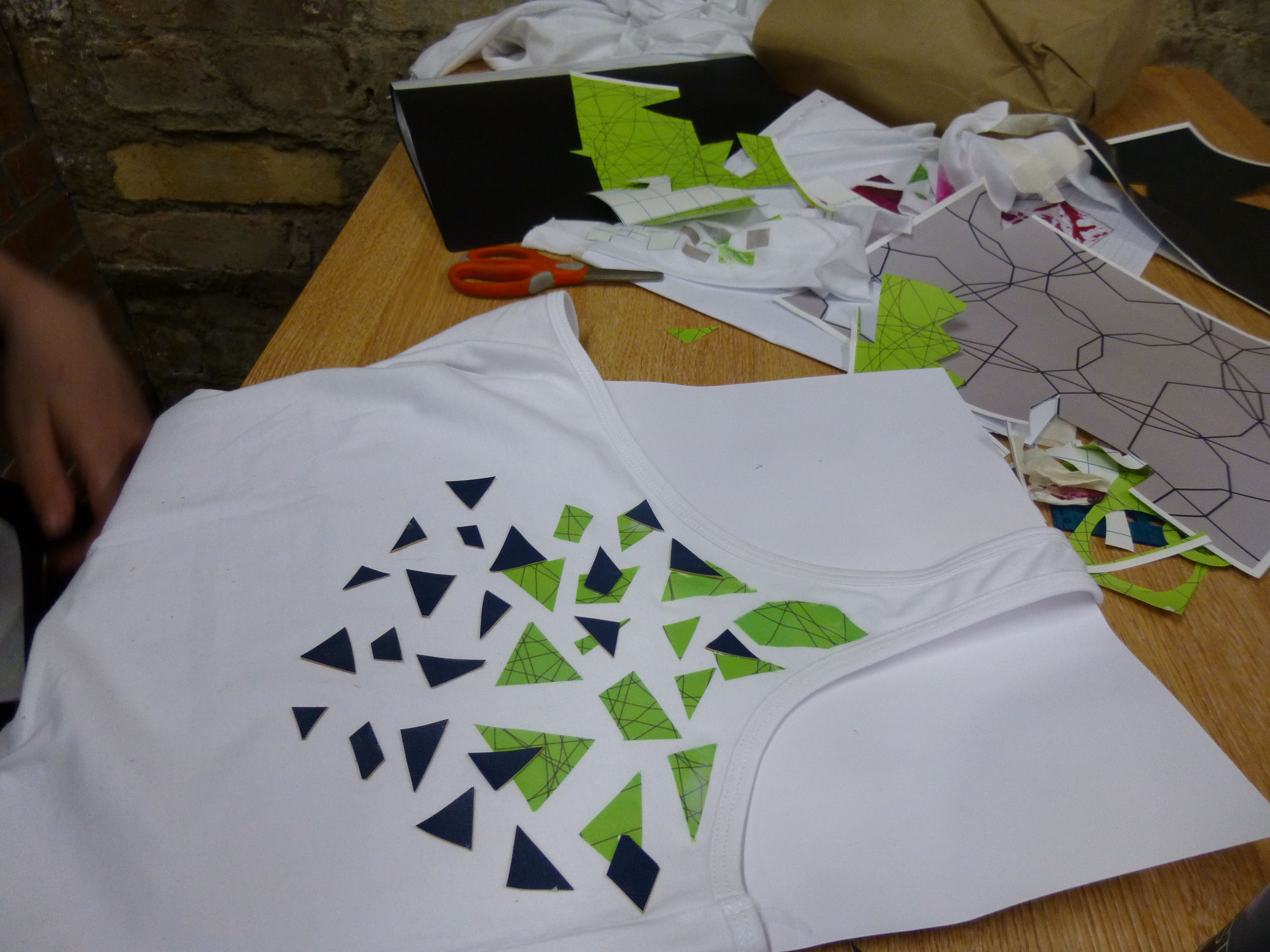Heat transfer and leather scraps