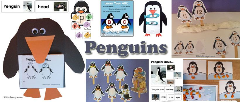 Penguins Kindergarten and Preschool Activities and Games