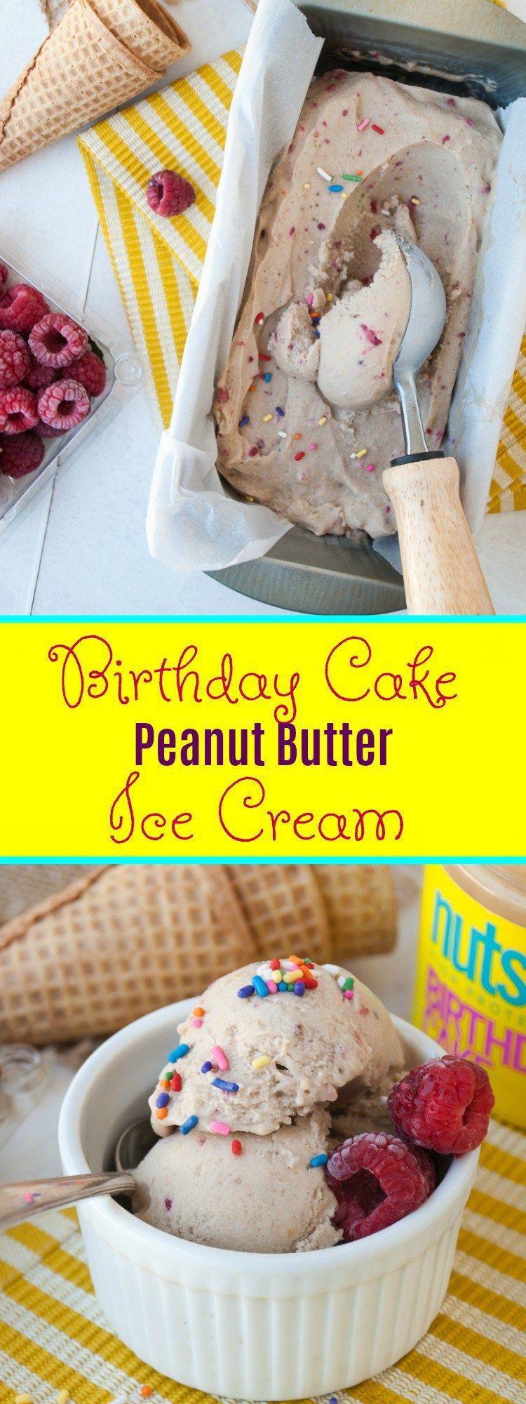 Raspberry Birthday Cake Peanut Butter Ice Cream