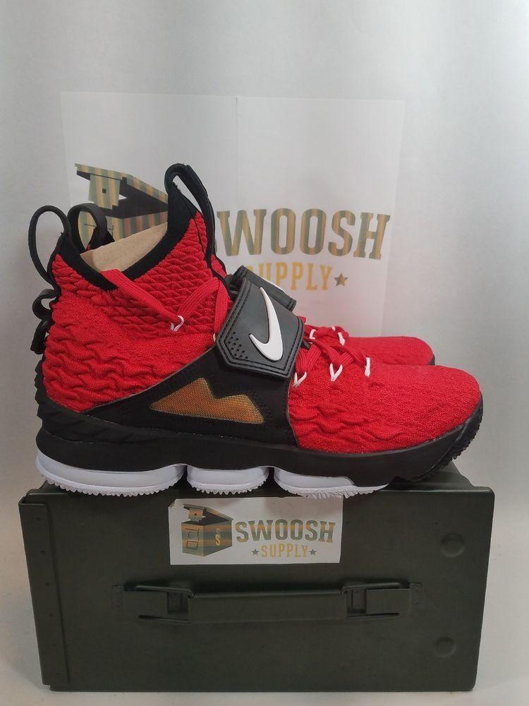 74118e341e6d Nike Lebron 15 XV Prime Red Diamond Turf Varsity Red Men s Size 9 AO9144 600   Nike  AthleticSneakers