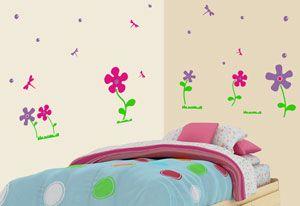 Flores para decorar la habitación de la pequeña de casa.