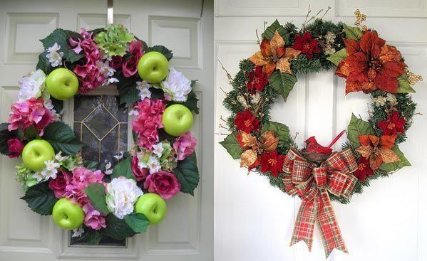 Christmas Wreath Decorating Ideas Christmas Spirit Pinterest - christmas wreath decorations