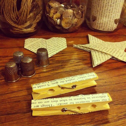 Literary Clothespins = Literary Party Favors For Our