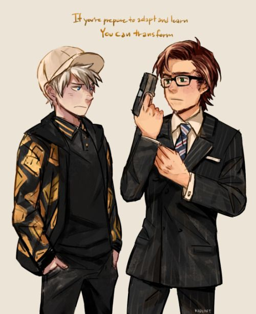Kingsman:the secret service is one of my favorit movies<3 Jack as Egssy and Hiccup as Harry