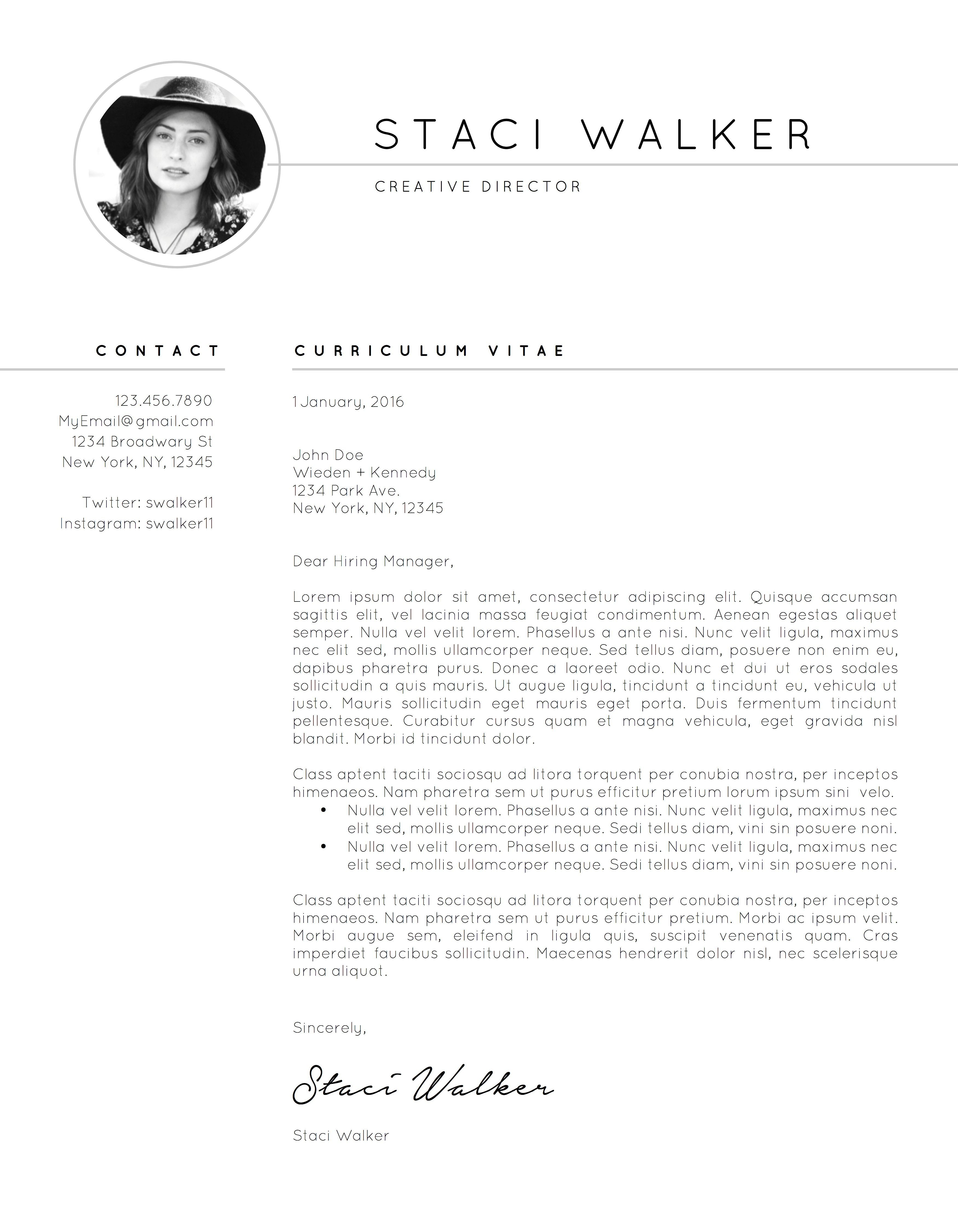 Resume Template  Cv  Cover Letter By The Creative Resume On