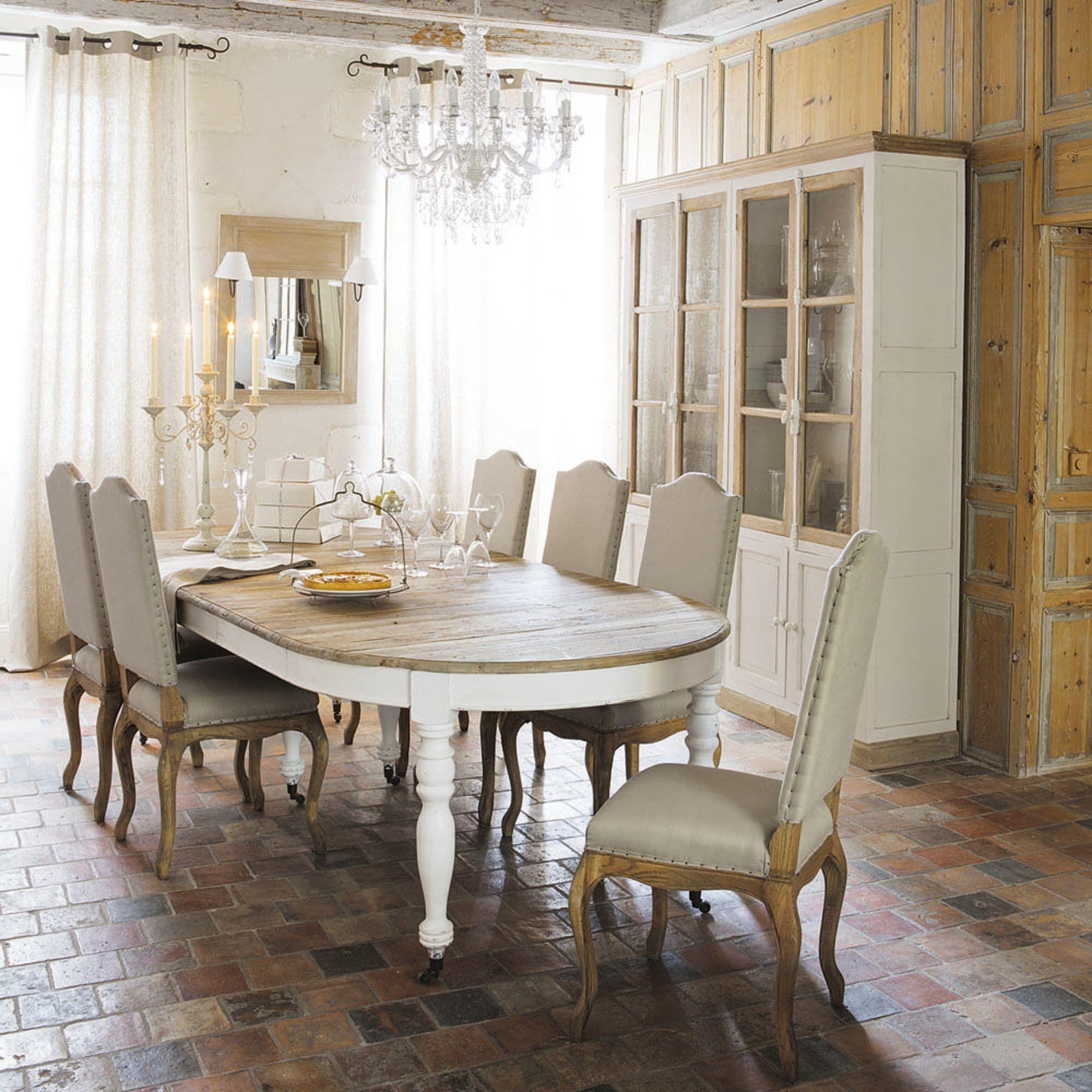 Table A Manger Extensible A Roulettes 6 14 Personnes L125 325 Provence Maisons Du Monde Table Salle A Manger Table A Manger Extensible Salle A Manger Bois