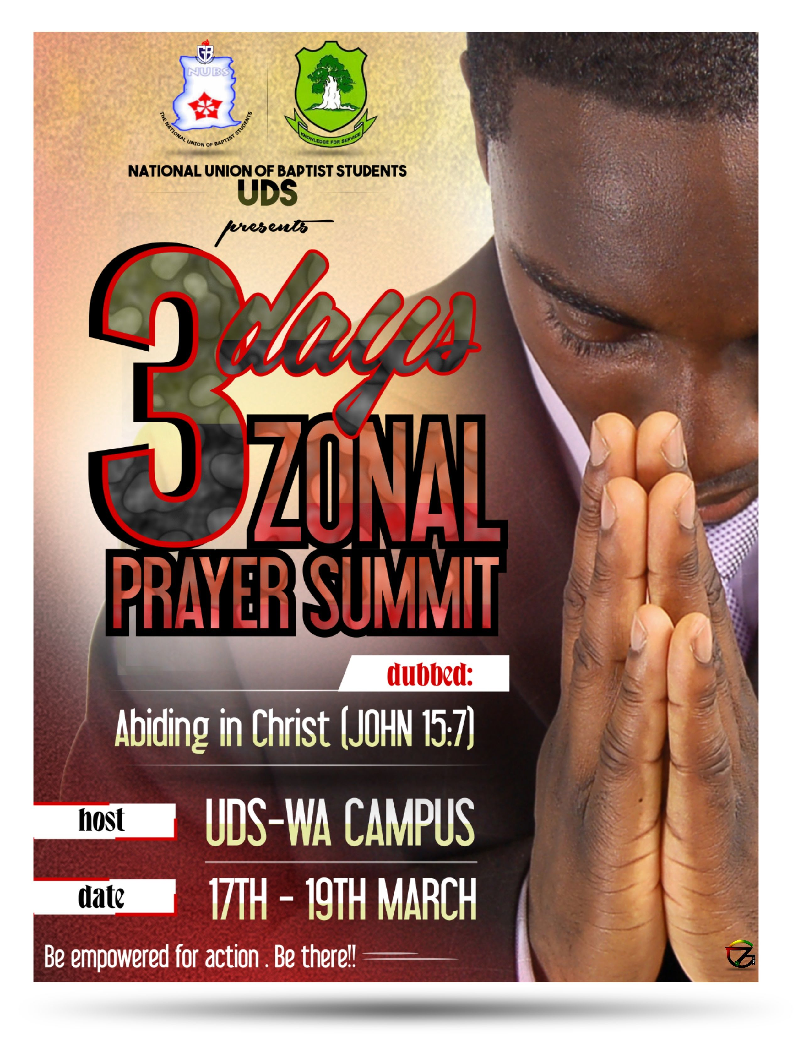 Poster design for coaching institute - Uds National Union Of Baptist Students 30 Days Prayer Summit Poster Design By 7graffix