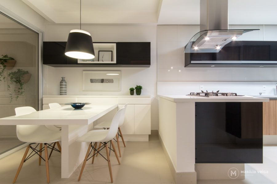 Cozinha Em Peninsula Cozinhas Com Ilha Em 2019
