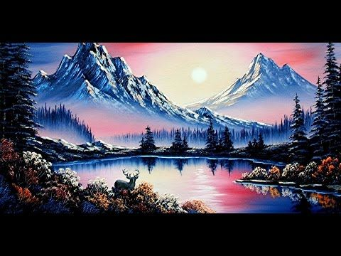 Youtube Canvas Painting Landscape Sunset Painting Acrylic Simple Oil Painting