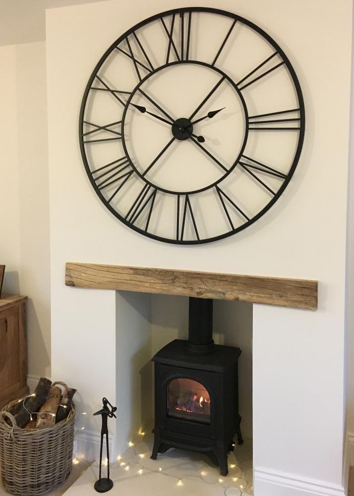 Huge Extra Large Metal Wall Clock Iron 110cm Roman