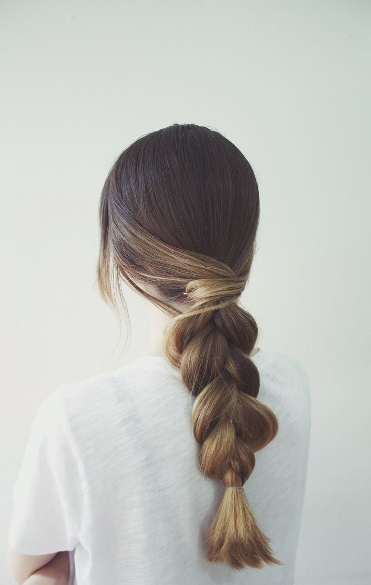 Classic Braid With A Simple Twist | Twist hairstyles, Plait ...
