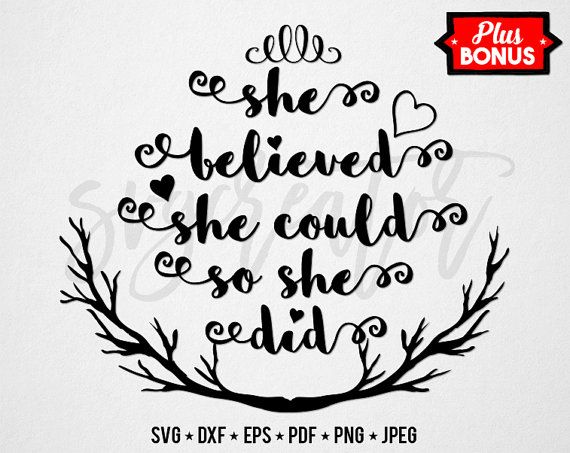 Download She Believed She Could So She Did SVG Audrey Hepburn by ...