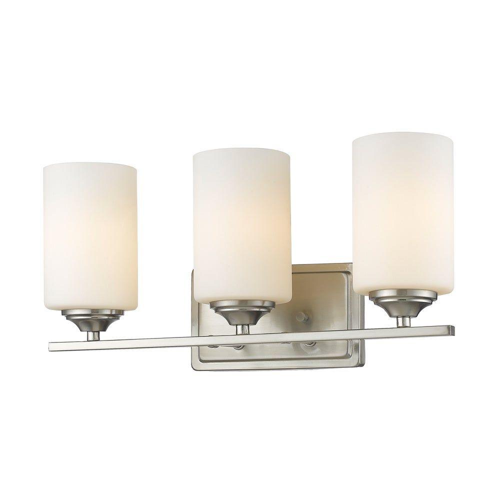 Photo of Avery Home Lighting Bordeaux 3-lights Brushed Nickel Vanity (Vanity), Beige