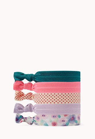 Girly Hair Tie Set at Forever21.com for only  2.80!  11a76aa23ef