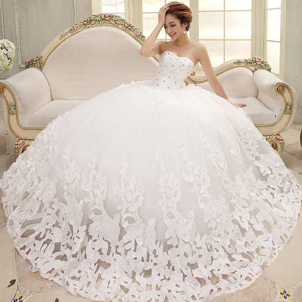 white princess wedding dresses with diamonds - Google Search | White ...