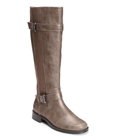 by Aerosoles Mushroom Ride Out Stretch-Panel Wide-Calf Boot
