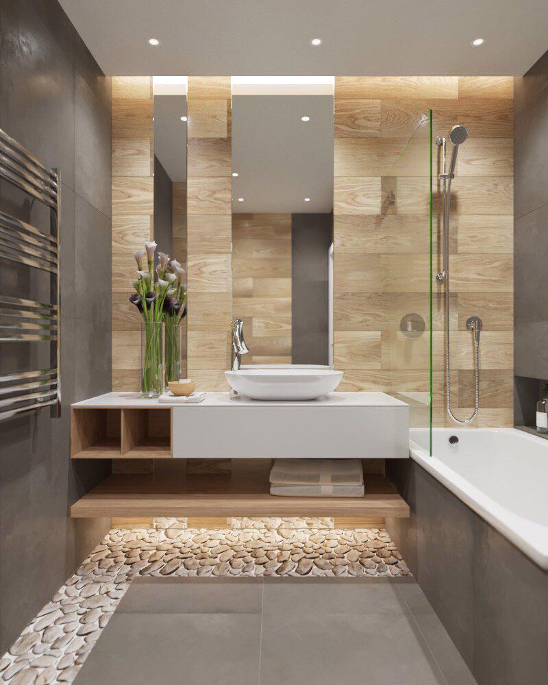 Deckenstrahler Und Indirekte Beleuchtung Badezimmer Innenausstattung Badezimmer Renovieren Badezimmer