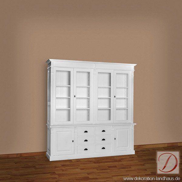Buffetschrank STANFORD Weiß B223cm Pinie Massivholz   Handwerkskunst Alter  Tradition Formt Die Silhouette Dieses Möbelstücks.