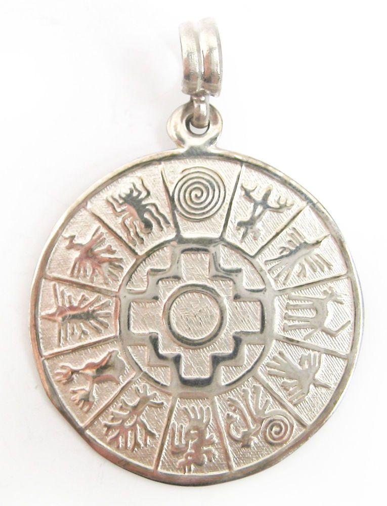 Peruvian nazca symbols sterling silver inca cross calendar naska peruvian nazca symbols sterling silver inca cross calendar naska pendant peru unbranded aloadofball Images