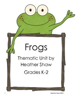 I've made my first unit for Teachers Pay Teachers!  It's full of math, language arts, and science to go along with the study of frogs in your K-2 classroom.