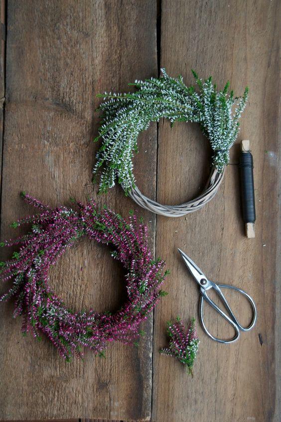 Heidekraut-Kränze und meine Woche beim perfekten Dinner auf VOX... | Herbst dekor diy, Herbst dekor, Herbst dekoration
