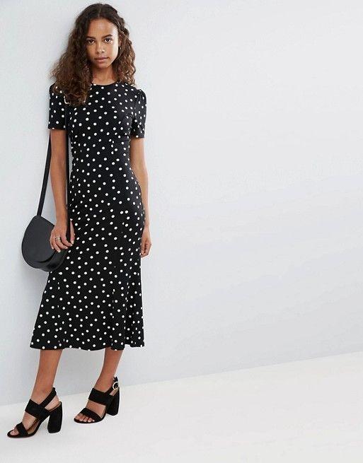56d04d2b04c PETITE City Maxi Tea Dress In Polka Dot Print