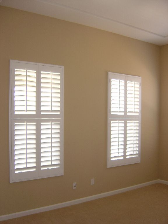Double Hung Wood Shutters In Bedroom Interior Shutters Affordable Interiors Interior