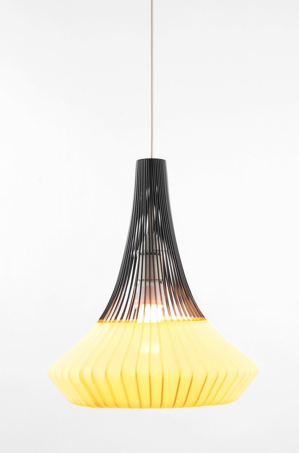 Black pendant wired lamp yellow contemporary art design gifts