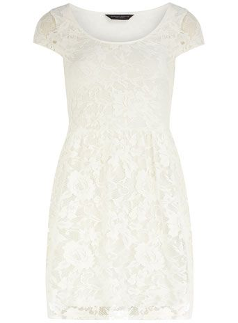 Ivory short sleeve lace dress -- this site has gorgeous dresses for cheeap!!!