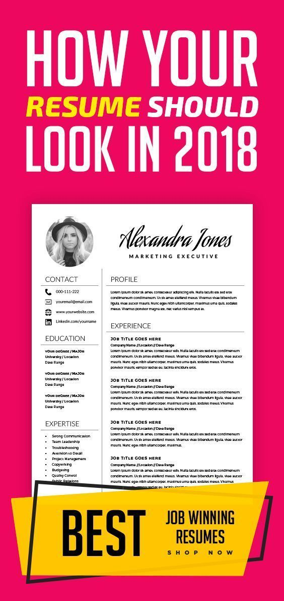 Elegant Resume Template - Creative Resume - CV Template + Cover Letter - MS Word on Mac / PC - Modern Resumes - Instant Download
