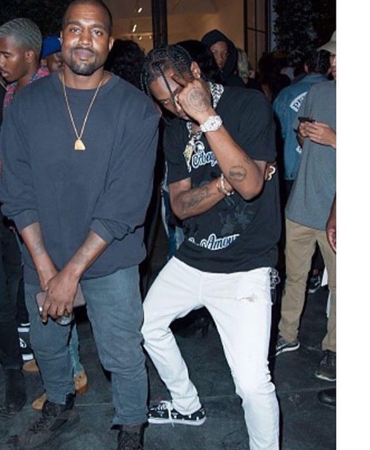 La Flame And Kanye West Celebrita Travi