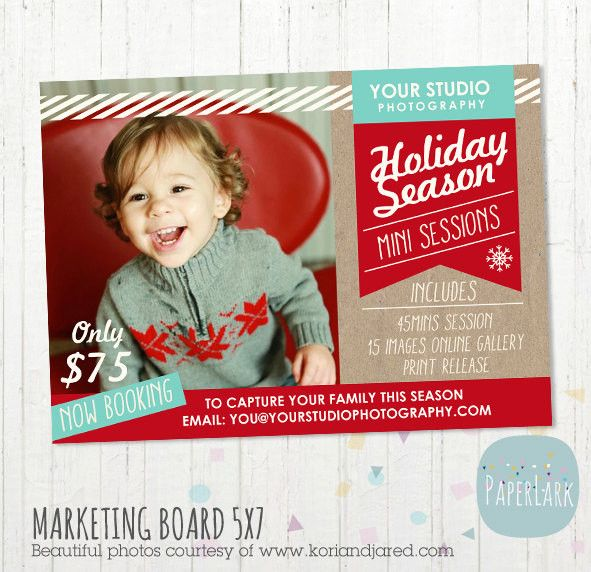 Christmas Mini Session Marketing Board IC002 Christmas photography
