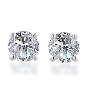 1 Diamond Earring Studs See more amazing jewelry at RadiantRings.net! #jewelry