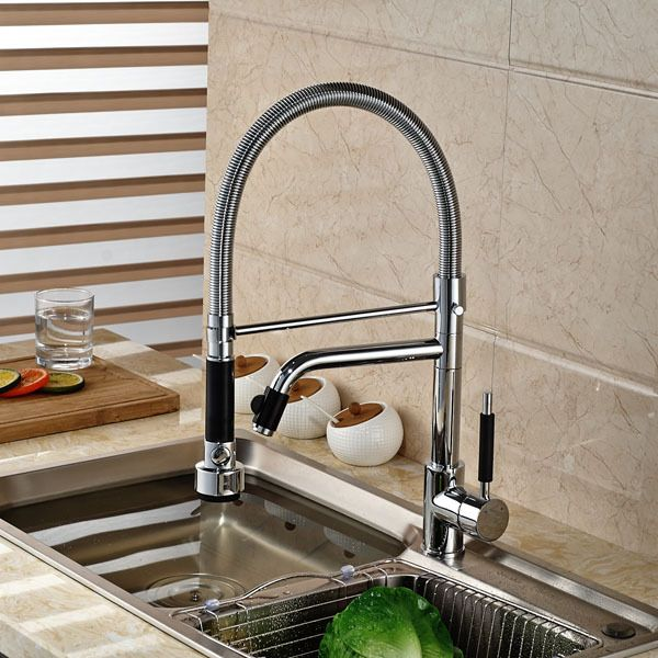 Single Lever Spring Pull Down Kitchen Sink Faucet Dual Sprayer Hot Best Discount Kitchen Faucets Review