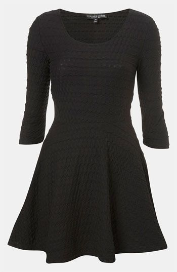 Topshop Textured Skater Dress (Petite) available at #Nordstrom