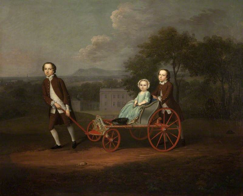 Richard, Mary and Peter – The Children of Peter and Mary du Cane, 1747–1749, by Arthur Devis  Harris Museum & Art Gallery