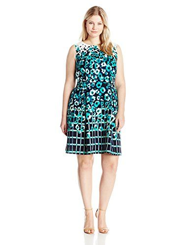 Adrianna Papell Women's Plus-Size Printed Crepe Sleeveless Dress  http://www.effyourbeautystandarts.com/adrianna-papell-womens-plus-size-printed-crepe-sleeveless-dress/