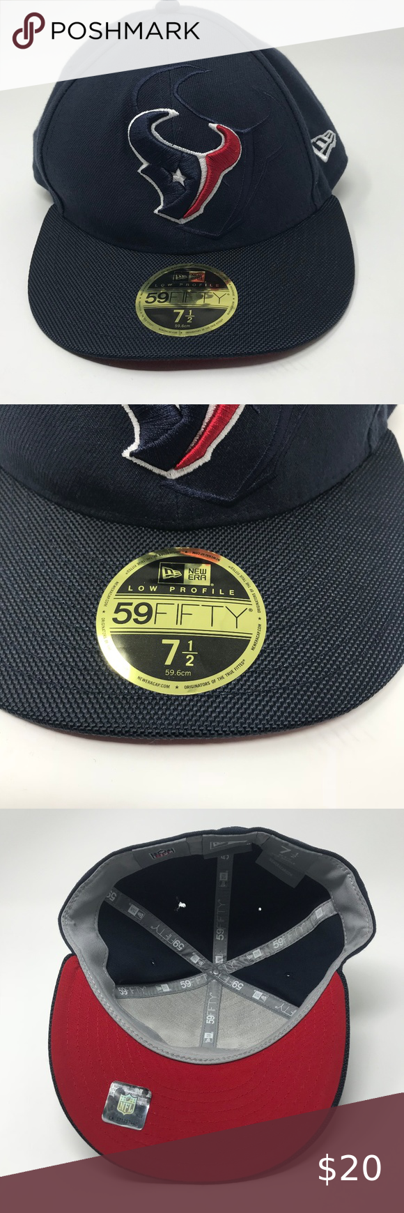 New Era 59Fifty Hat NFL Houston Texans Hat 7 1 2 N Inventory    A433 Brand  New  Era 59Fifty Color  Black with Houston Texans Logo Size  7 1 2 Mens New Era  ... d0aa58faf52c