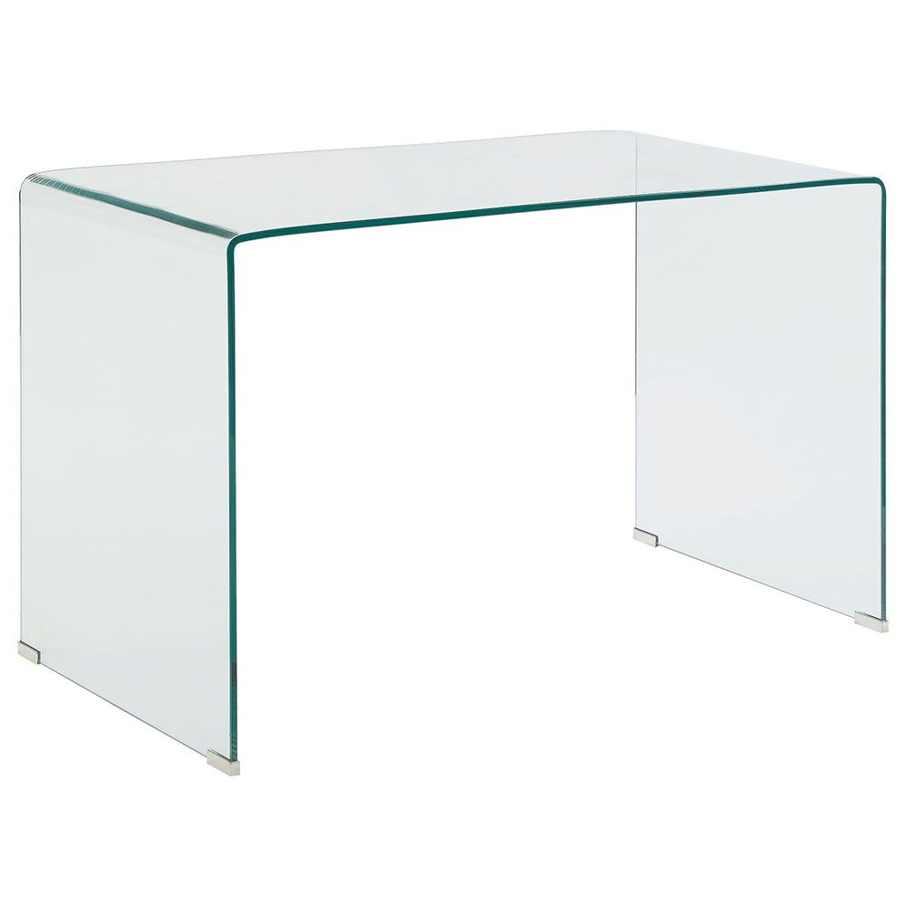 Waterfall Modern Clear Bent Glass 47 In Desk Glass Desk Desk Prices Glass End Tables [ 1000 x 1000 Pixel ]