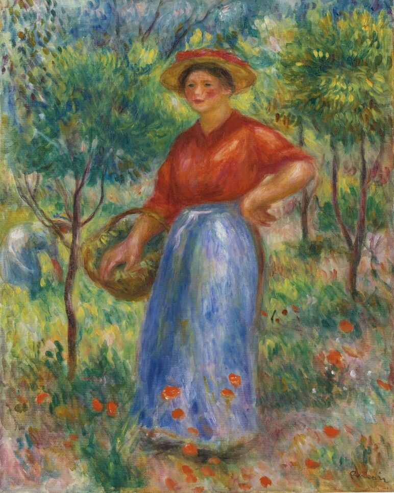 Young Woman with a Basket (Gabrielle in the Garden), 1912.  Renoir