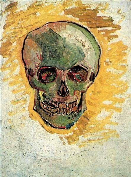 Gogh Pinterest Van 1887 Skull En Vincent 2018 qF0A55