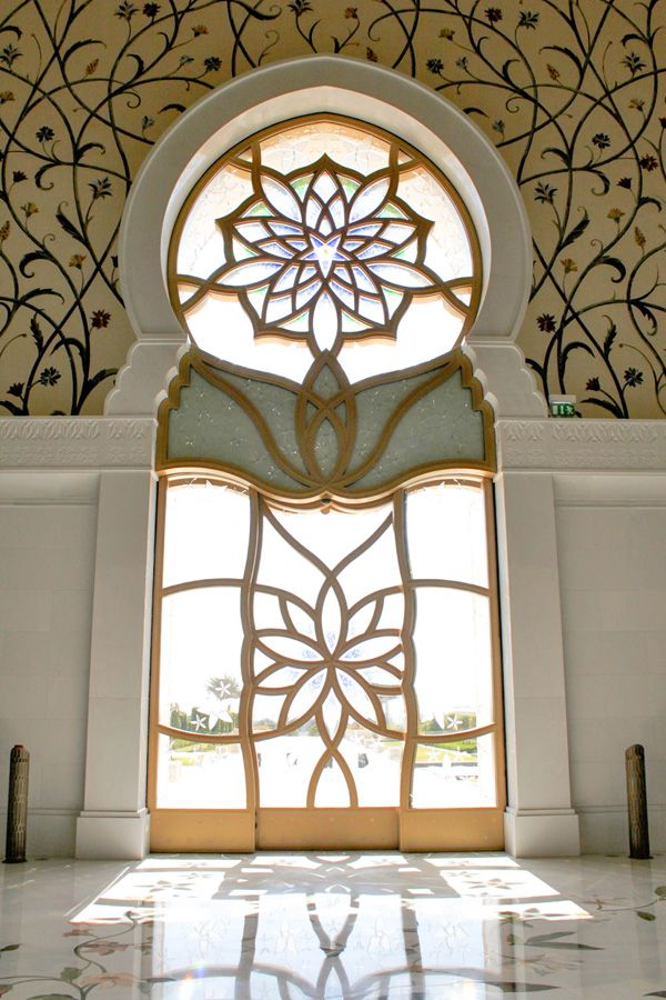 Pin By Designed Spaces Llc On Doorways To The World Moorish Design Mosque Sheikh Zayed Grand Mosque