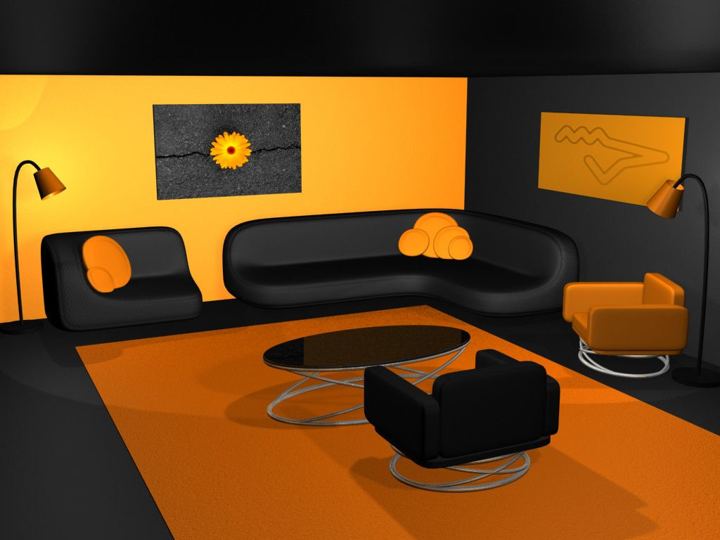 Orange And Black Room Ideas Google Search