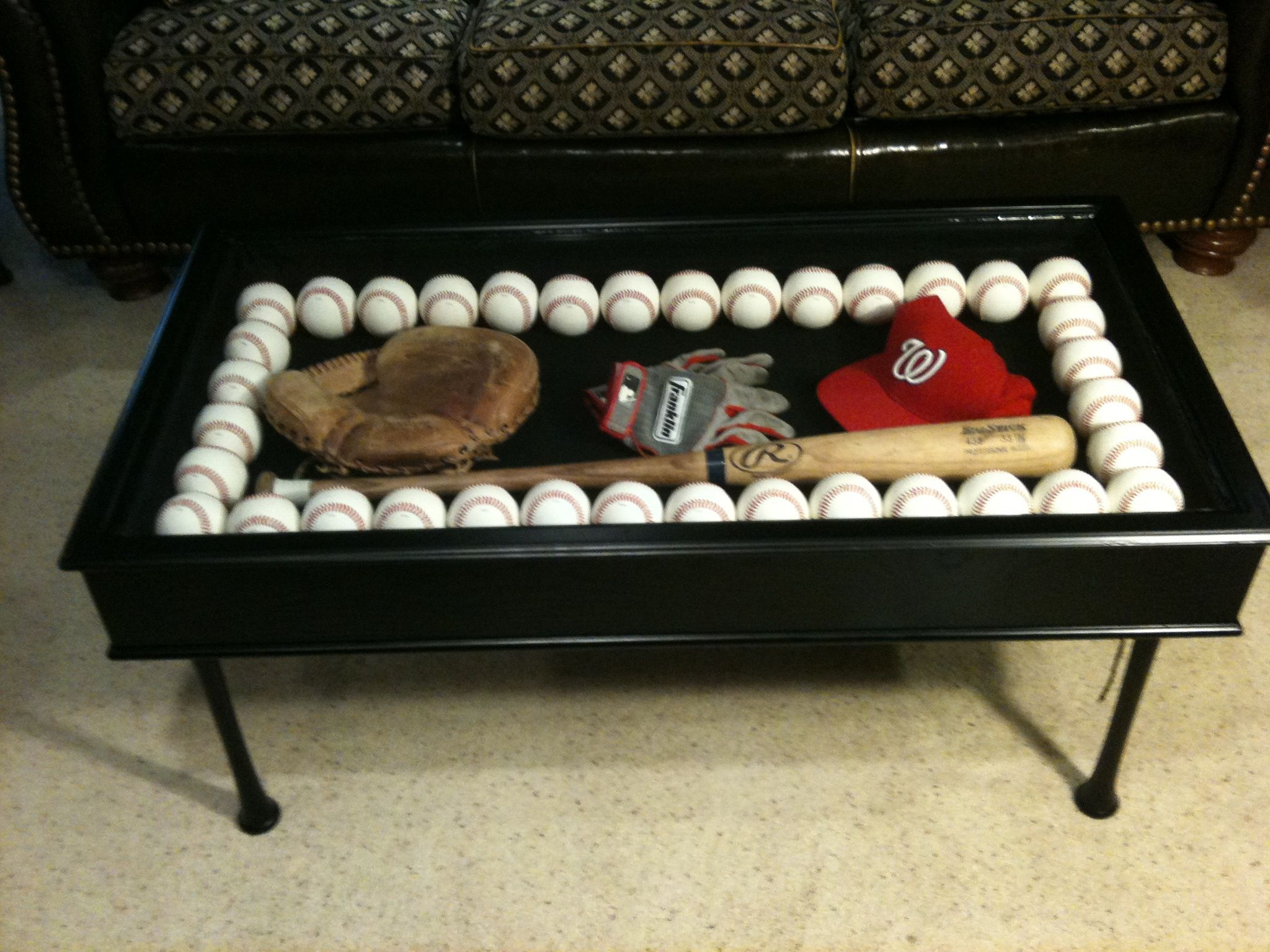 Baseball bat coffee table Coffe table Pinterest