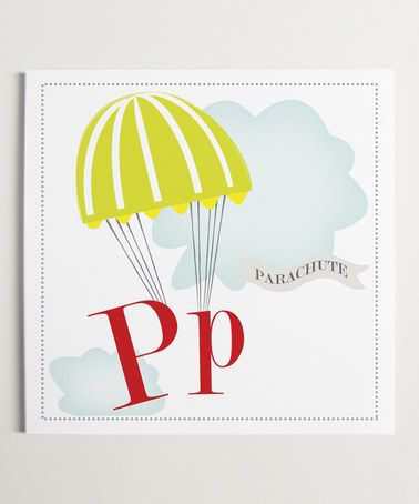 Pp is for Parachute Wall Art - by ModernPOP | Head in the clouds ...